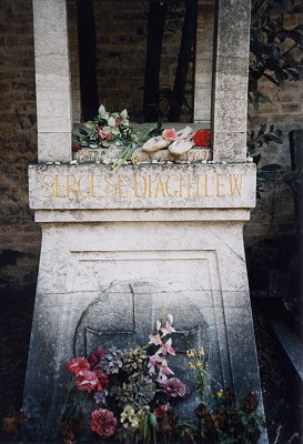 Grave of Sergei Diaghilew (russian ballet impresario)